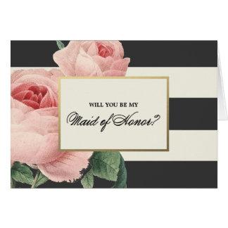 Botanical Glamour | Maid of Honor Card