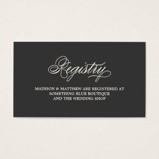 Botanical Glamour | Registry Card