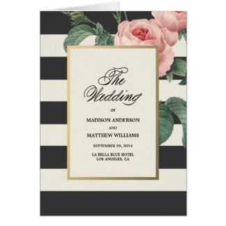 Botanical Glamour | Wedding Program