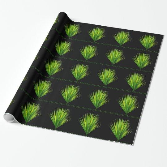 Botanical Green Leaf Prints Leaves Patterns Black