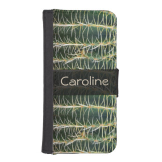 Botanical Green Sphere Cactus any Name iPhone SE/5/5s Wallet Case