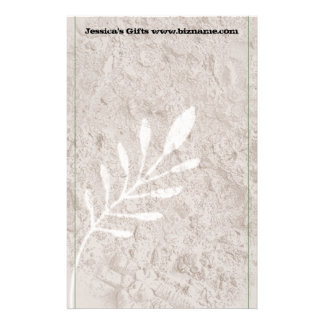 Botanical Grunge Country-Look Stationery Paper