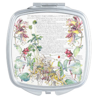 Botanical Honeysuckle Flowers Compact Mirror
