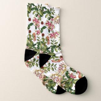 Botanical Honeysuckle Flowers Socks 1