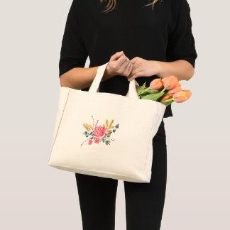 botanical illustration modern hipster mini tote bag