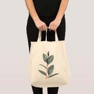 botanical illustration modern hipster tote bag