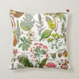Botanical Illustrations Throw Pillow