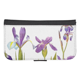Botanical Iris Flowers Floral Irises Phone Wallet