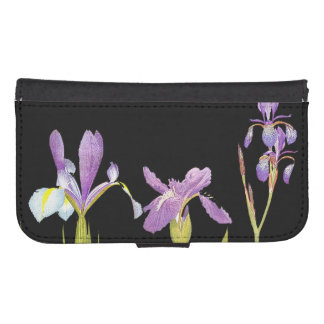 Botanical Iris Flowers Floral Irises Phone Wallet Cases