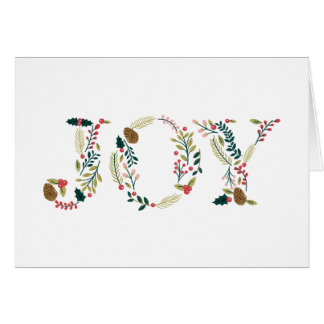 Botanical Joy Christmas Greeting Card