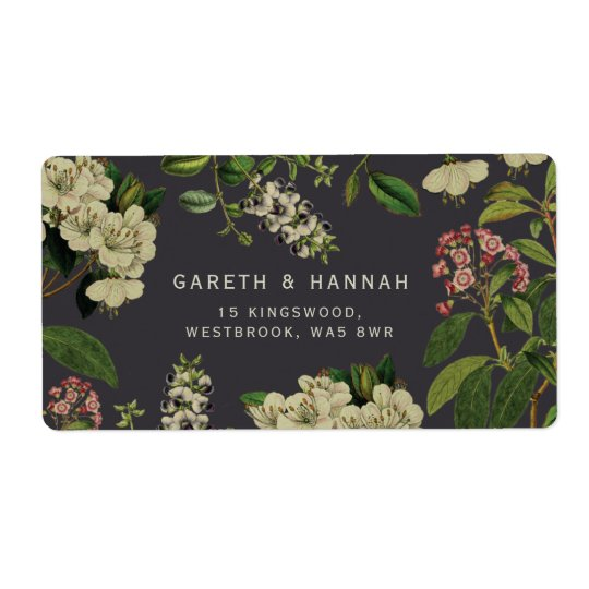 BOTANICAL LABEL-GREY SHIPPING LABEL