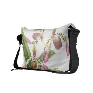 Botanical Ladys Slipper Orchid Flower Floral Bag Commuter Bag