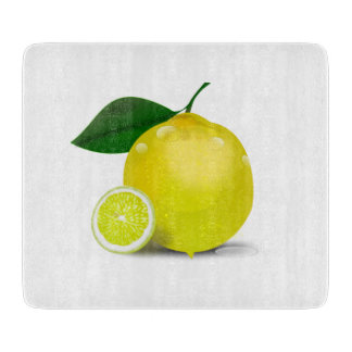 Botanical Lemon Cutting Board