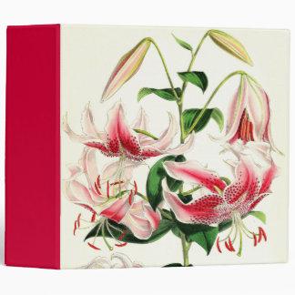 Botanical Lily Flowers Floral Garden Vinyl Binders