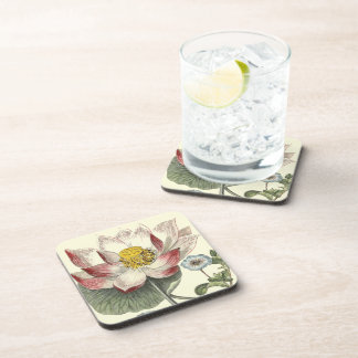 Botanical Lotus Floral Flower Coasters