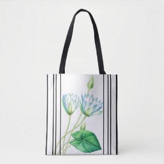 Botanical Lotus Flower Floral Water Garden Bag