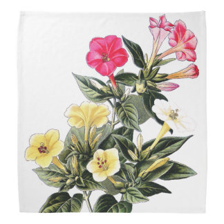 Botanical Marvel of Peru Flowers Floral Bandana