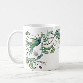 Botanical Morning Glory Flowers Leaves Mug