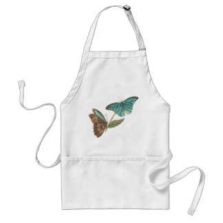 Botanical Morpho Butterfly Leaf Insects Apron
