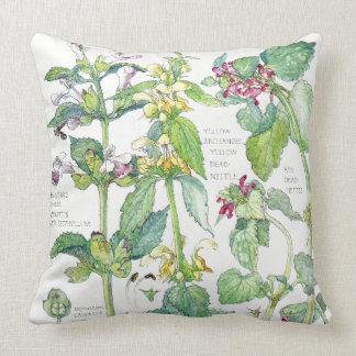 Botanical Nettle Wildflower Flowers Throw Pillow