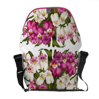 Botanical Orchid Flowers Floral Tropical Courier Bag