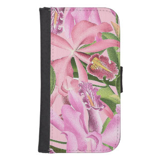 Botanical Orchid Flowers Floral Tropical Phone Wallet Case