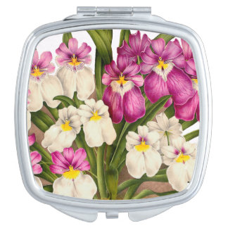 Botanical Orchid Flowers Floral Tropical Vanity Mirrors