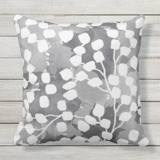 Botanical Outdoor Pillow - Gray