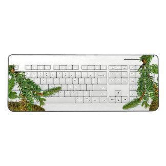 Botanical Pine Cone Needles Wireless Keyboard