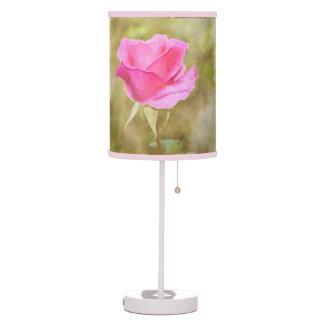 Botanical Pink Rose Bedroom Table Lamp