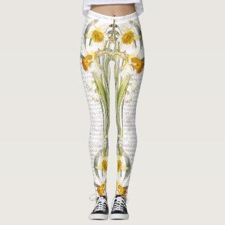 Botanical Poppy Flowers All Over Print Leggings