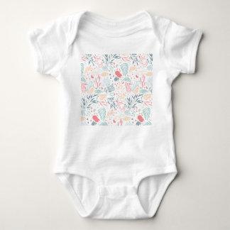 Botanical print baby bodysuit