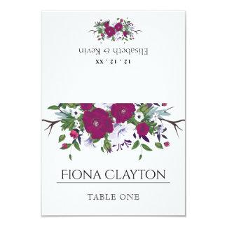 Botanical purple violet flower bouquet wedding card