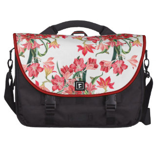 Botanical Red Amarylis Flowers Floral Bags For Laptop