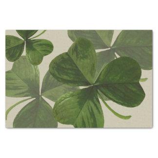 Botanical Shamrock Photos on Custom Color Tissue Paper
