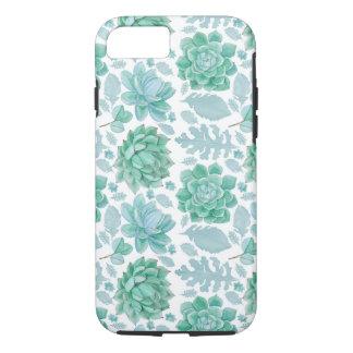 Botanical Succulent pattern, modern nature Case-Mate iPhone Case