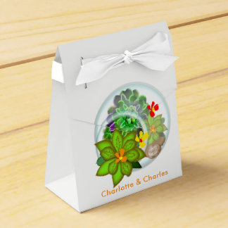 Botanical Succulents | Beach Personalized Favor Box