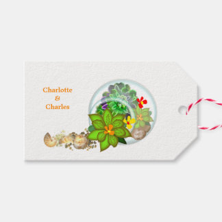 Botanical Succulents | Beach Personalized Gift Tags