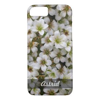 Botanical Sweet White Flowers Photo any Name iPhone 7 Case