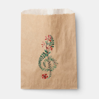 Botanical Treble Clef Favour Bag