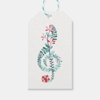 Botanical Treble Clef Pack Of Gift Tags
