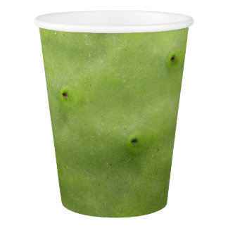 Botanical Tropical Green Cactus Photo Paper Cup