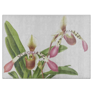 Botanical Tropical Orchid Flowers Floral Cutting Board