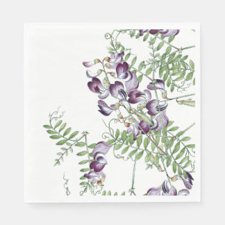 Botanical Vetch Wildflower Flowers Paper Napkins