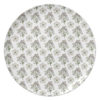 Botanical vintage 4 Melamine Plate