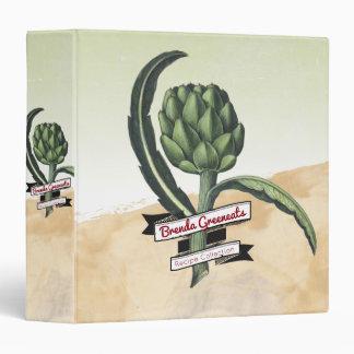 Botanical vintage artichoke recipe cookbook vinyl binders