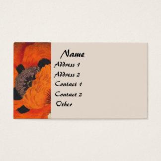 Botanical Vintage Poppy Floral Business Card