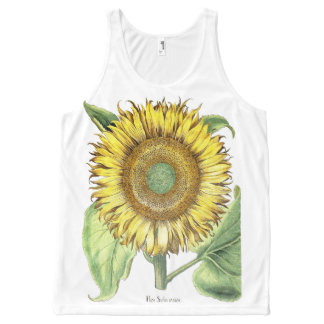 Botanical Vintage Sunflower Flowers Floral