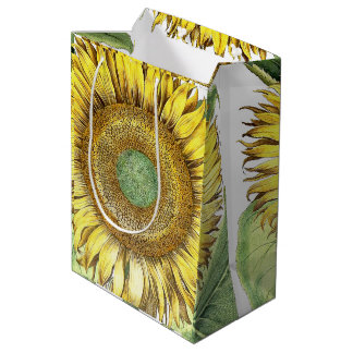 Botanical Vintage Sunflower Flowers Floral Bag