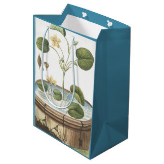 Botanical Water Garden Flowers Floral Gift Bag